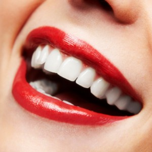 No bad breath smile with white teeth