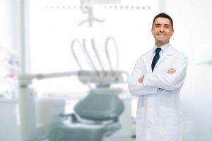 Dentist in Medford in clean dental office.