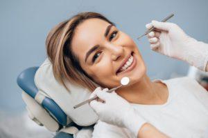 woman visiting dentist in Medford