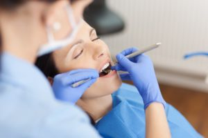 woman relaxed at dentist in Medford